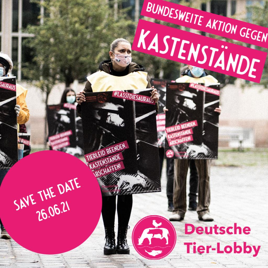Bundesweite Aktion gegen Kastenstände am 26.06.2021